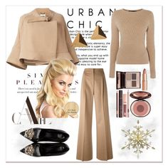 """The blond lady!"" by amy0527 ❤ liked on Polyvore featuring MaxMara, Karen Millen, Chloé, Charlotte Tilbury and Versace"