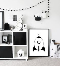 Black and white play room for the boys