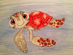 Turtle drawing by Darby Davey.