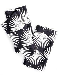 Palm Leaf Print Napkin Set