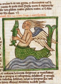 British Library, Harley 3244, detail of f. 55r. Bestiary. 1236-c.1250