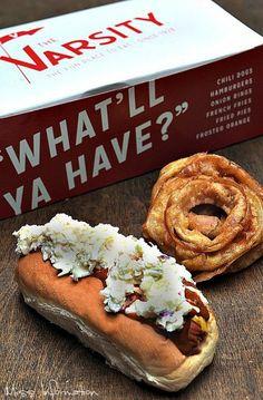 Homemade Hot Dog Chili Recipe to create a copycat of The Varsity's Chili Slaw Dog