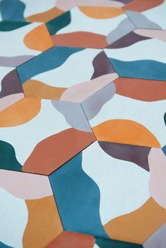 Fruit Salad by Juju Papers Floor Patterns, Tile Patterns, Textures Patterns, Espace Design, Mosaic Tiles, Cement Tiles, Concrete Cement, Wall Tiles, Portland Cement