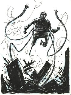Doctor Octopus by Skottie Young Comic Art
