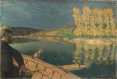 Edouard Vuillard | Le passeur : Cipa Godebski dans une barque sur l'Yonne | Images d'Art