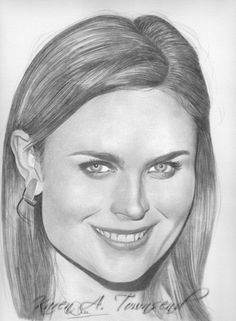 Temperance 'Bones' Brennan Pencil on bristol inch Emily Deschanel Cool Art Drawings, Amazing Drawings, Cartoon Drawings, Easy Drawings, Celebrity Caricatures, Celebrity Drawings, Celebrity Portraits, Graphite Drawings, Pencil Drawings