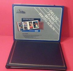 PIONEER DELUXE JUMBO PHOTO ALBUM NAVY BLUE EXPANDABLE PICTURE COVER | Cameras & Photo, Camera & Photo Accessories, Photo Albums & Storage | eBay!
