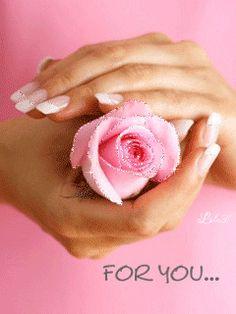 Flores e frases: FOR YOU...