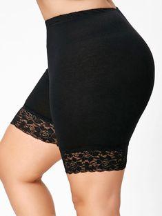 Details about Women Lace Hem Elastic Safety Underwear Shorts Pants Short Tight Leggings Plus Cheap Leggings, Plus Size Leggings, Tight Leggings, Black Leggings, Leggings Shoes, Free Leggings, Print Leggings, Trendy Plus Size Clothing, Plus Size Outfits