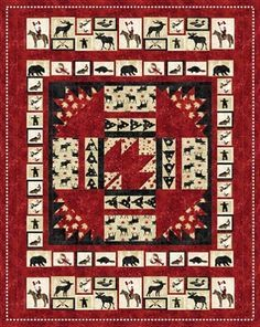 Oh Canada Quilt Pattern, by The Fabric Addict