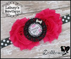 """""""Mommy's Girl"""" Floral Headband/Bow Just Sayin' An Auction Style Event Opens 3/3/15 at 5 PM CST Closes at 3/5/15 at 9 PM CST Purchase Here: www.facebook.com/dollhousedesigngroup"""