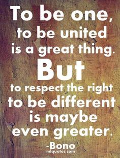 The Right To Be Different