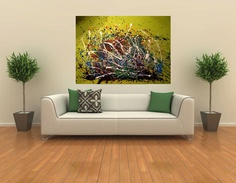 Large abstract . Spring Delight