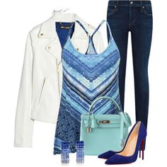 Shades of Blue by tayswift-1d on Polyvore featuring maurices, House of Holland, Citizens of Humanity and Hermès