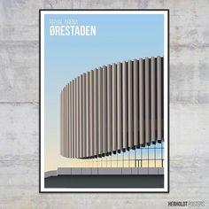 """17 Likes, 1 Comments - Herholdt Posters (@herholdtposters) on Instagram: """"Royal Arena, the new multi arena (Colosseum) in Copenhagens new borough Ørestaden. I really like…"""""""