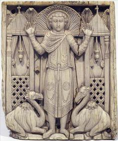 Placa tallada en marfil,periodo bizantino
