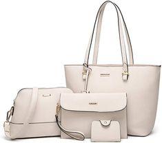 Amazon.com  ELIMPAUL Women Fashion Handbags Tote Bag Shoulder Bag Top  Handle Satchel Purse Set 4pcs  Shoes 23dfa0cbc8d