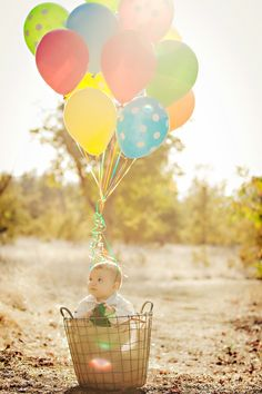 """Up"" inspired baby photoshoot."