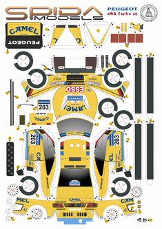 Paper Model Car, Paper Car, 3d Paper, Paper Models, Paper Toys, Plotter Cutter, Crate Paper, Yellow Painting, Creative Crafts