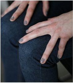Grey & Black French Manicure