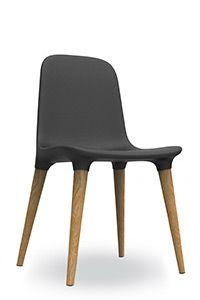 Tako 451.11 - Side chair with seat in integral foam and legs in oak or walnut.