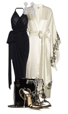 """Untitled #789"" by jetadorejas on Polyvore featuring Carine Gilson, Emanuel Ungaro, Marchesa and Chanel"