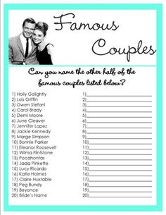 bridal shower game  This is perfect for a movie nerd like myself! I would do this in my spare time for fuN!