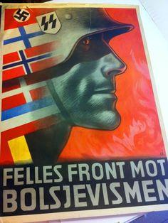 "Norway  WW2  Nazi propaganda: ""Common Front Against Bolshevism"""