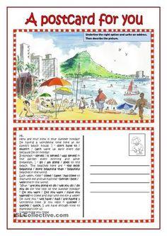 006 Write a Postcard HP Postcard examples, Postcard format