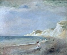 The Beach at Varangeville - Pierre Auguste Renoir c.1880 Impressionism