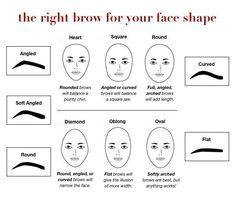 Makeup & Beauty tips: Eyebrow Maintenance Make-up & Beauty-Tipps: Augenbrauen pflegen Eyebrows For Oval Face, Thin Eyebrows, Shape Eyebrows, Oval Face Shapes, Oval Faces, Eyebrow Shapes, Eyebrow Face Shape, Makeup For Oval Face Shape, Beauty Hacks Lips