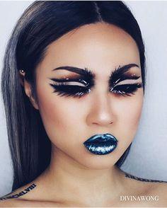 "1,328 Likes, 29 Comments - ☾ D I V I N A (@divinamuse) on Instagram: ""- impulse -  By @virivisions found on @facecharts ❤️ Using  @katvondbeauty shade+light eye palette…"""