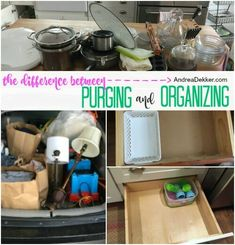 The Difference Between Purging and Organizing - Andrea Dekker Clutter Organization, Organizing, Huge Closet, Everything I Own, Under Bed Storage, Declutter Your Home, Recycling Bins, Decluttering, Simple Living