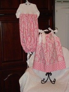 Onesie Dress and Pillow Case Dress, maybe I need a sewing machine, the girls could match