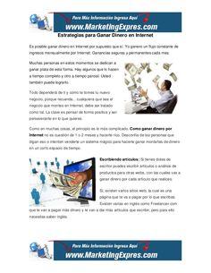 estrategias para ganar dinero en internet Para saber como ganar dinero con un blog, en http://albertoabudara.com/1118/como-ganar-dinero-rapido/ encontrarás muchas sugerencias e ideas.
