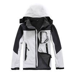 Plus Size Winter Water Resistent Wind Proof Fleece Outdoor Skiing Parka Jacket for Men