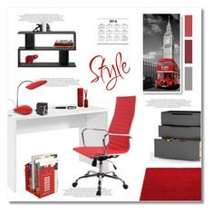 """""""british office style"""" by limass ❤ liked on Polyvore featuring interior, interiors, interior design, home, home decor, interior decorating, LexMod, Hearts Attic, Dot & Bo and Baxton Studio"""