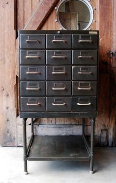 Vintage Metal Industrial Cabinet | Louise Stutterheim | Amsterdam