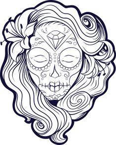 sugar skull coloring page 9 kidspressmagazinecom