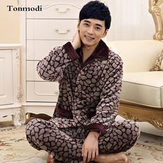 New Luxury Men's Pajamas Warm Autumn And Winter Flannel Sleepwear Thickening Mens Pyjamas Sleep Lounge Pajama Sets Plus size 4XL