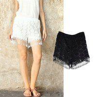 Prezzi e Sconti: #Shorts con frange bianco l  ad Euro 8.99 in #Bianco #Womens trousers