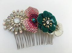Handmade Unqiue Floral Bridal, Bridesmaid or Prom Hair Comb