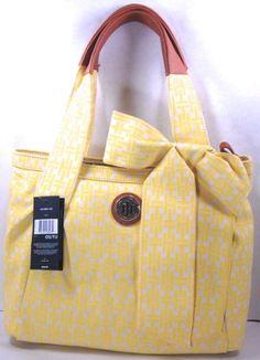 Women's Tommy Hilfiger Tote Handbag(yellow and Tan/brown)