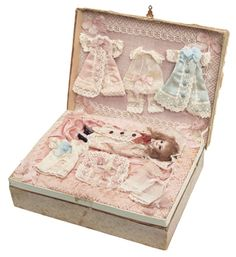 """View Catalog Item - Theriault's Antique Doll Auctions - french in original presentation box, 5.5"""""""
