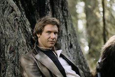 Harrison Ford as Han Solo behind the scenes on the set of #StarWars: Episode VI - Return of the Jedi (1983).