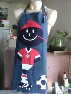 Avental  Motivo Time de futebol  Internacional  Execução Retalho de Luxo