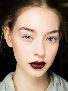 Glitter, gothic dark lips, and more glitter: The makeup at New York fashion week's fall 2016 season was as gilded at it gets. These are the looks we loved most.