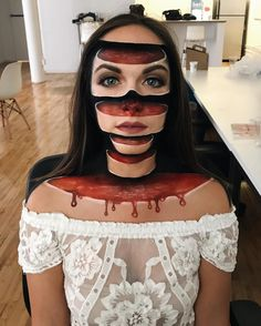 Mimi Choi, Makeup Artist Creates Mystifying Optical Illusions, halloween, costumes costume make-up Looks Halloween, Halloween Cosplay, Scary Halloween, Halloween Face Makeup, Halloween Costumes, Halloween Forum, Chic Halloween, Halloween Fashion, Happy Halloween