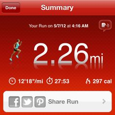 5/6/12: Part 1: 2.2 mile run+ 75 squats, 12 squat thrust+ 30 side burpees.