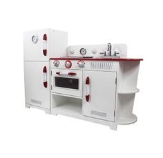 Red Play Kitchen Set kids play kitchen $389.95 #sweetcreationsau #play #playkitchen